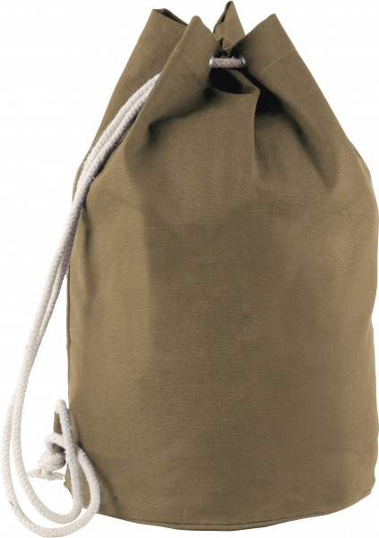 Seesack aus Baumwollcanvas mit Kordel - khaki