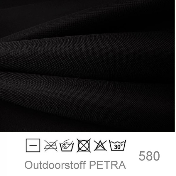 "Outdoorstoff ""Petra"" - schwarz (580)"