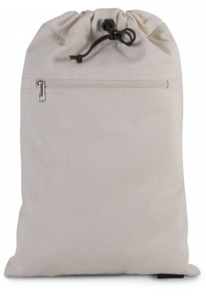 Rucksack aus Baumwollpolyester mit verstellbaren Trägern - natur