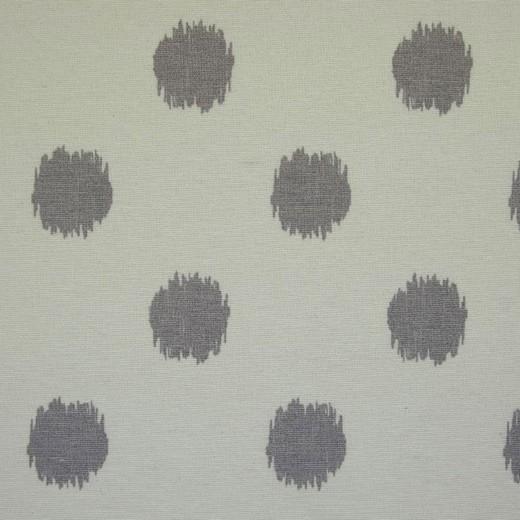 Canvas Dots - nature/grau - Reststück 0,65x1,4m (415/09)