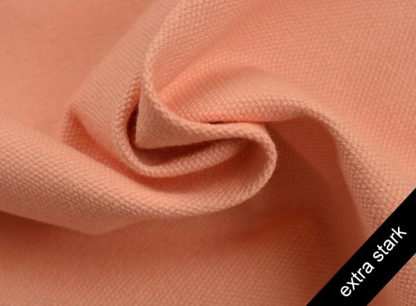 Canvas - Stoff unifarben 100% Baumwolle - extra stark - lachsrosa