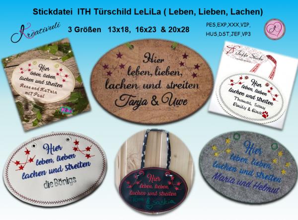 ITH-Stickdatei - Türschild LeLiLa