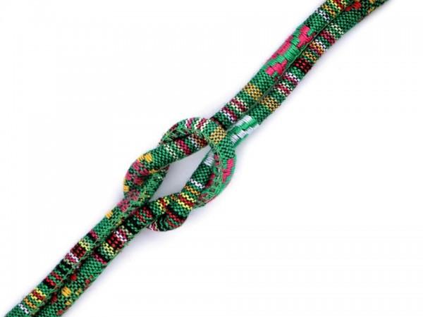 Kordel mit Füllung Indian-Style - 6mm - grün