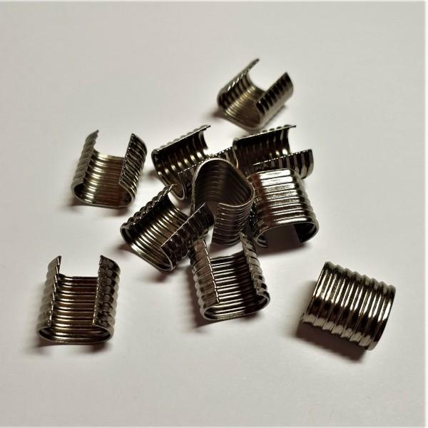 Metall-Endstück für Kordeln - Kordelenden gunmetal- 8-10 mm (10 Stück)