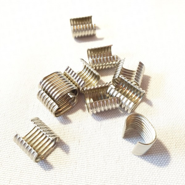 Metall-Endstück für Kordeln - Kordelenden silber- 8-10 mm (10 Stück)