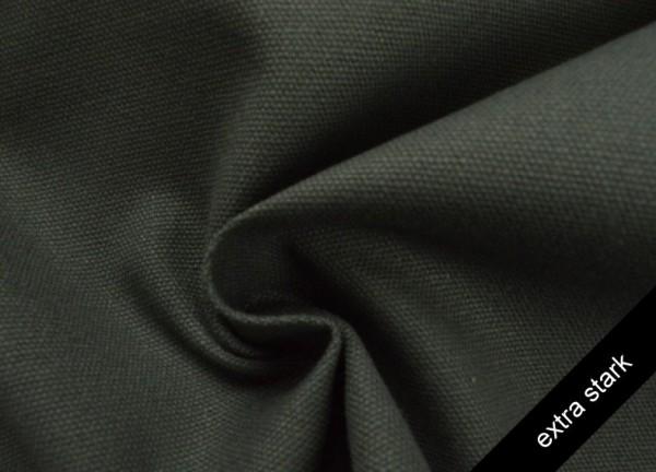 Canvas - Stoff unifarben 100% Baumwolle - extra stark - dunkelgrau