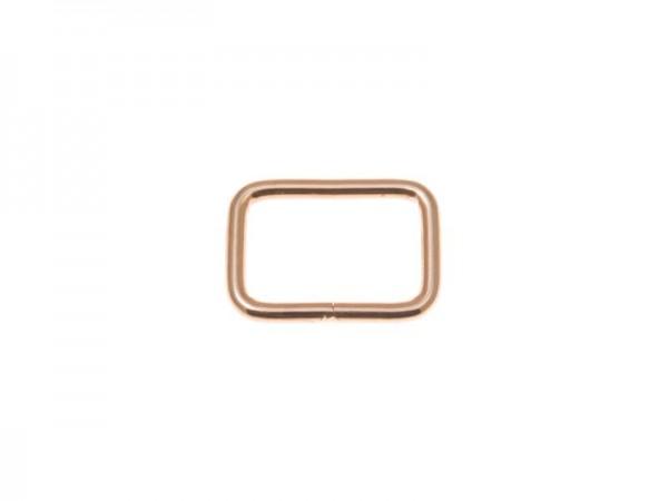 Vierkantschlaufe - hellgold - 25 mm (5 Stück)
