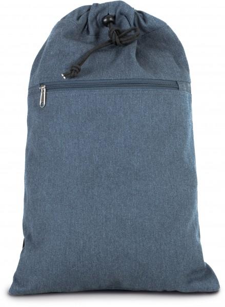 Rucksack aus Baumwollpolyester mit verstellbaren Trägern - jeans