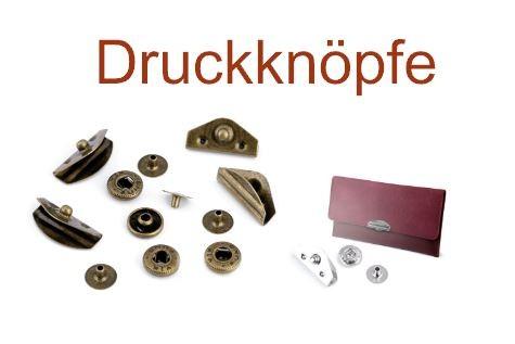 Druckknöpfe Design lang - 10x20 mm - altmessing (3 Sets)