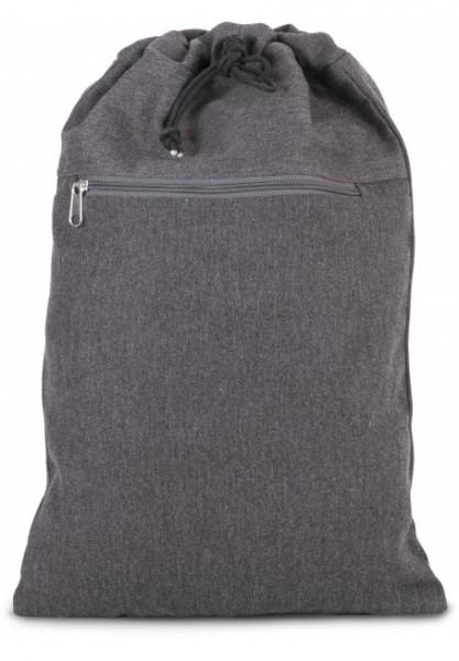 Rucksack aus Baumwollpolyester mit verstellbaren Trägern - grau
