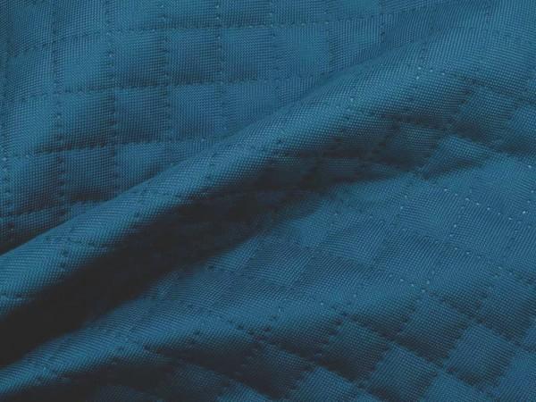 "Outdoorstoff ""Maja"" gesteppt Karo - blau"