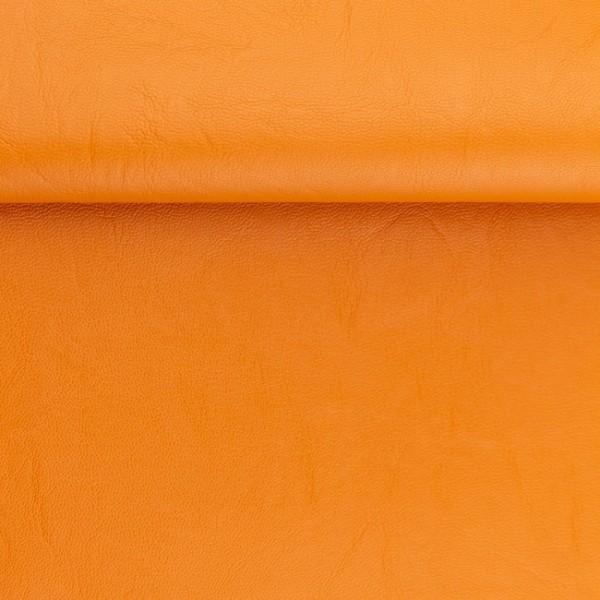 """Kunstleder """"RETRO"""" - orange - 0,5 m"""