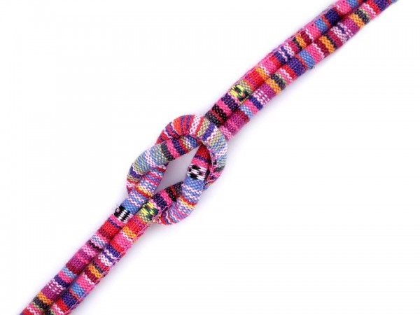 Kordel mit Füllung Indian-Style - 6mm - rosa