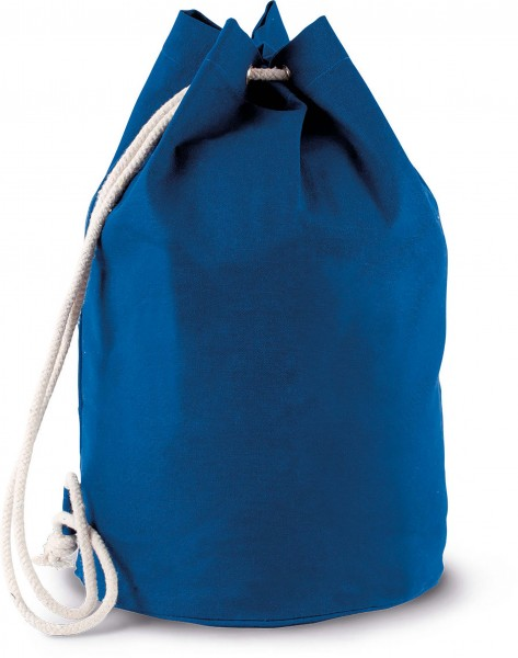 Seesack aus Baumwollcanvas mit Kordel - blau