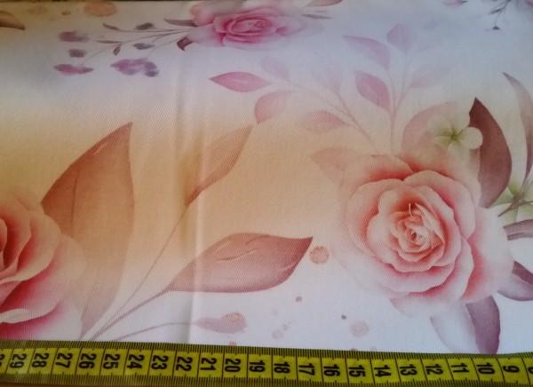 Dekostoff Big Roses - Reststück 0,5x1,4m (468/09)