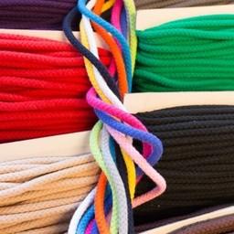 Kordel - Hoodiekordel - 8mm Baumwolle geflochten - 18 Farben