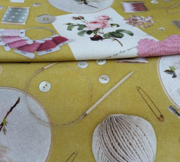 Canvas Sewing Kit - grün - Reststück 0,65x1,4m (424/09)