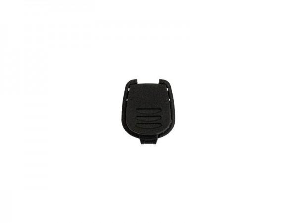 Kordelendstück zum Eindrücken - 7mm - Kunststoff - schwarz (10 Stück)