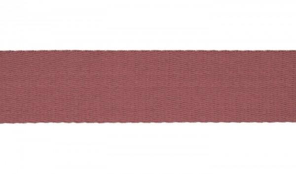 Baumwoll-Gurtband Soft - 40mm - unifarben - altrosa