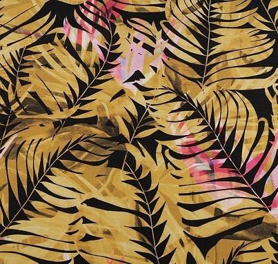 Dekostoff Loneta - Blätter - Reststück 0,5x1,4m (460/09)