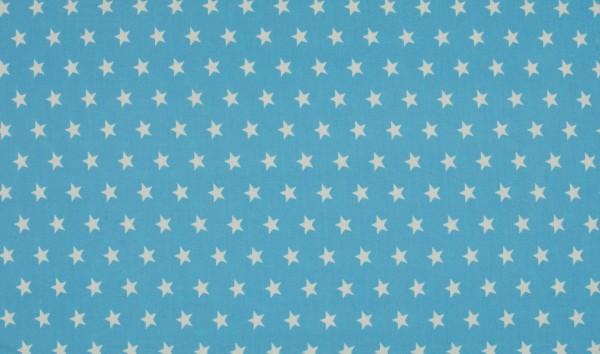 Baumwoll-Popeline - Sternchen hellblau