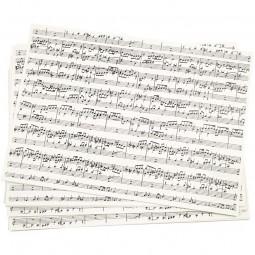 Kraftpapier, A4 210x297 mm, 100 g, Musiknoten, 10Blatt